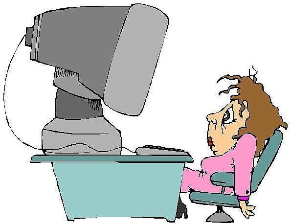 директор работает за компьютером